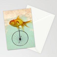 unicycle goldfish Stationery Cards