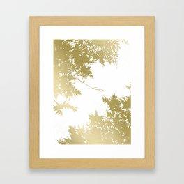 Night's Sky Gold Framed Art Print