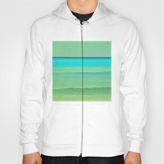 green and blue Hoody