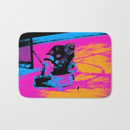And the Puck Stops Here! - Hockey Goalie Bath Mat