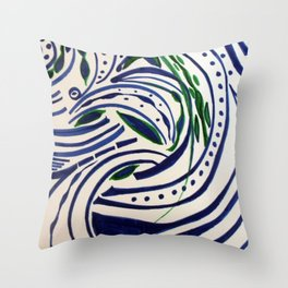 Water Flowing Plant Throw Pillow