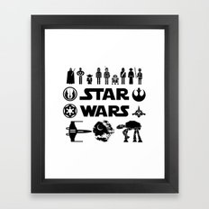 Star Characters Wars Framed Art Print