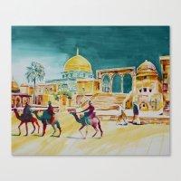 israel Canvas Prints featuring Israel 1 by CarolBoerckel