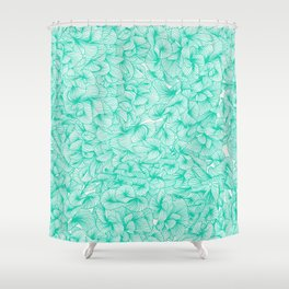 Knee-Deep in Turquoise Ink Shower Curtain
