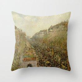 Boulevard Montmartre: Mardi Gras Throw Pillow