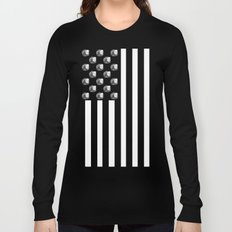 US MiniFigure Flag - Vertical Long Sleeve T-shirt