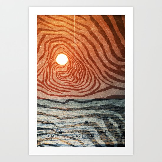 Hypnotic Sunrise  Art Print