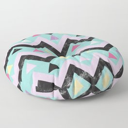 Zig zag Mosaic Pattern Abstractart - hipster and Inca inspired Floor Pillow