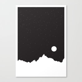 Mountain Sky Night Canvas Print