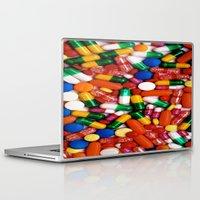 pills Laptop & iPad Skins featuring PILLS,PILLS,PILLS by Asano Kitamura