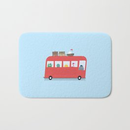 Funny Bus Bath Mat
