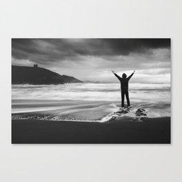Facing the storm Canvas Print