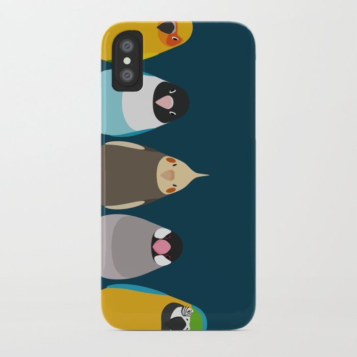 Five birds - tori no iro iPhone Case