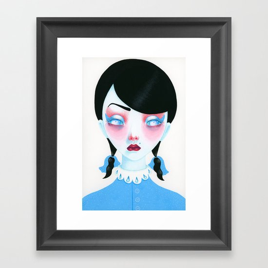 Vampire Girl Framed Art Print
