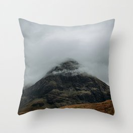 Misty Mountain - landscape, nature, moody, scotland, glencoe Throw Pillow