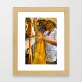 jarocho con arpa Framed Art Print