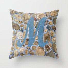 Monogram M Throw Pillow