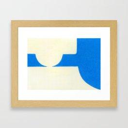 Driveway in Blue Framed Art Print