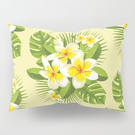 Tropical Bouquet. Plumeria Pillow Sham