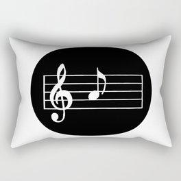 A Musical Note Rectangular Pillow