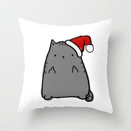 Christmas Cat Double Bird Throw Pillow