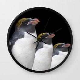 Macaroni Penguin Wall Clock