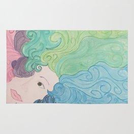 Higher Self Curly Rainbow Hair Rug