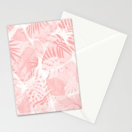 Abstract Soft Pink Tropical Design Stationery Cards