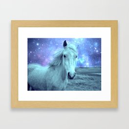 Celestial Dreams Horse Periwinkle Lavender Aqua Framed Art Print