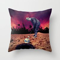 golf Throw Pillows featuring Golf by Cs025
