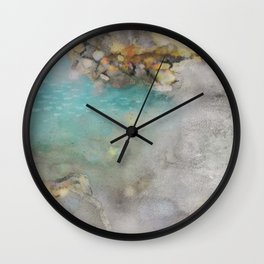 digital watercolor sea print Wall Clock