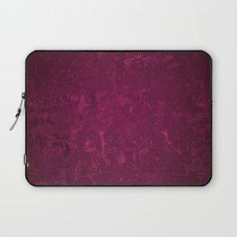 CLARET distressed bright burgundy wine design Laptop Sleeve