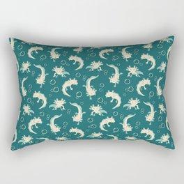 Relaxolotl - Teal Rectangular Pillow