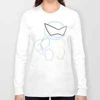 squirtle Long Sleeve T-shirts featuring Squirtle v2 by Proxish Designs