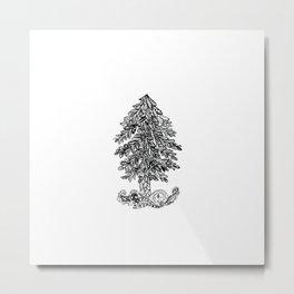 Ornamental christmas tree Metal Print