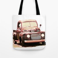 truck Tote Bags featuring Old Truck by Regan's World
