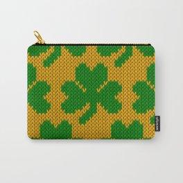 Shamrock pattern - orange, green Carry-All Pouch