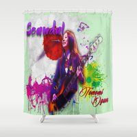 bass Shower Curtains featuring Bass Guitar by Don Kuing