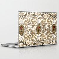 clockwork Laptop & iPad Skins featuring Clockwork Valentine by Alex Morgan