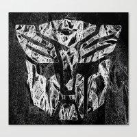 transformer Canvas Prints featuring Transformer by Beastie Toyz