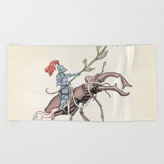 Gentle knight Beach Towel