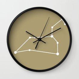 Leo (White & Sand) Wall Clock