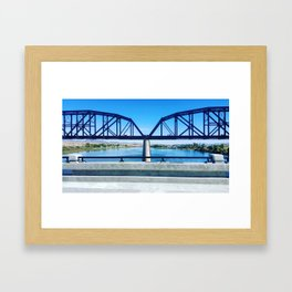 Think Bridge Framed Art Print
