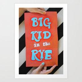Big Kid in the Rye Art Print