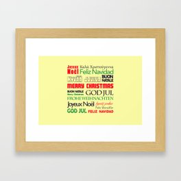 merry christmas in different languages I Framed Art Print