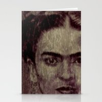 frida kahlo Stationery Cards featuring Frida Kahlo by ARTito