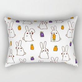 Rabbit on field Rectangular Pillow