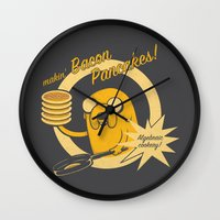 cooking Wall Clocks featuring Cooking Time by Perdita
