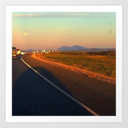 Roadside Sunset Art Print