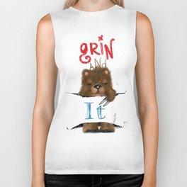 Grin and Bear it  Biker Tank
